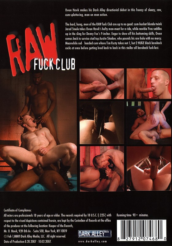 Raw Fuck Club DVD - Back