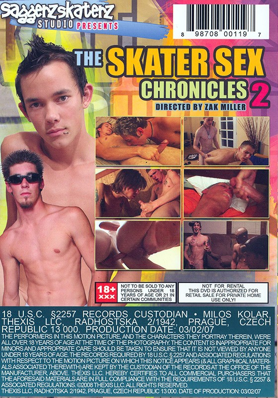 The Skater Sex Chronicles 2 DVD - Back