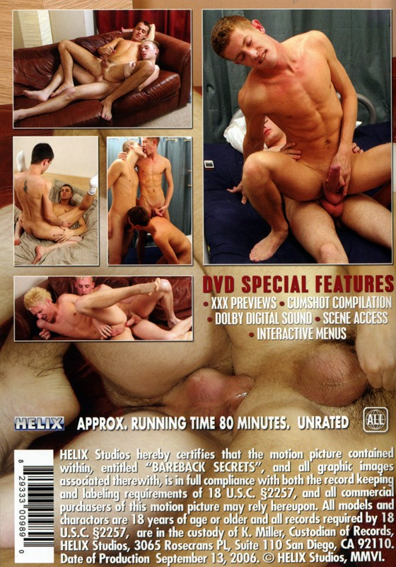 Bareback Secrets DVD - Back