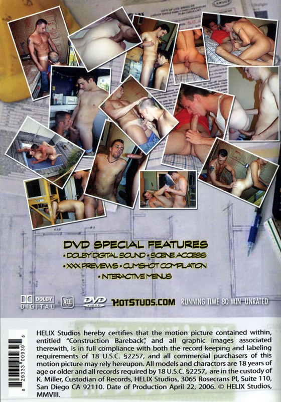 Construction Bareback DVD - Back