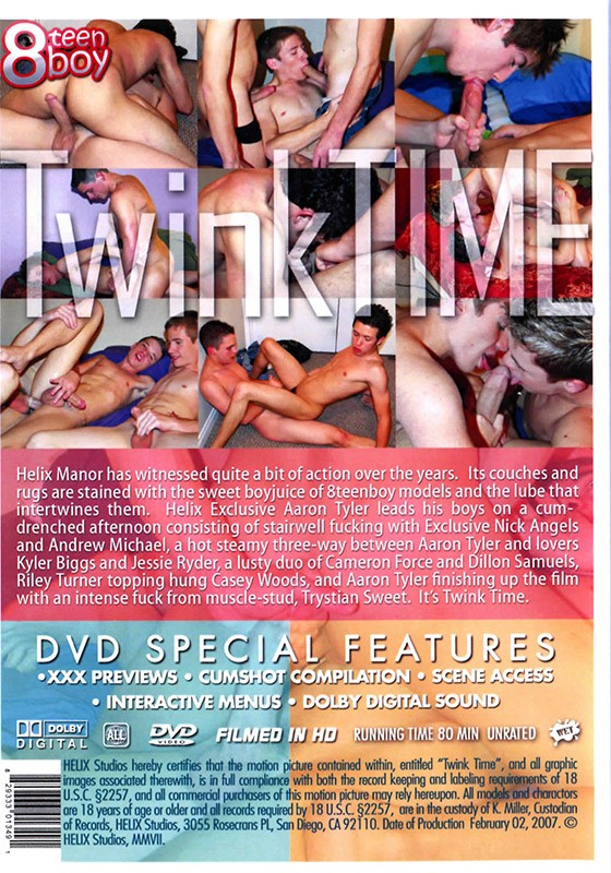 Twink Time DVD - Back