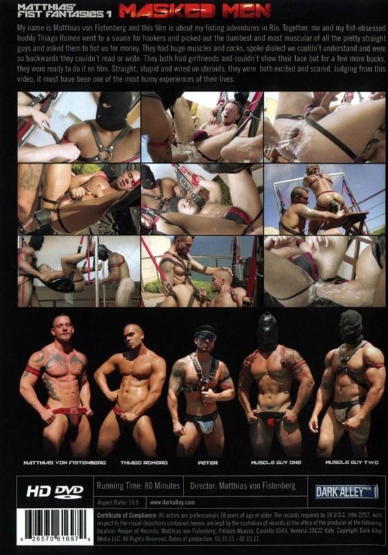 Masked Men DVD - Back