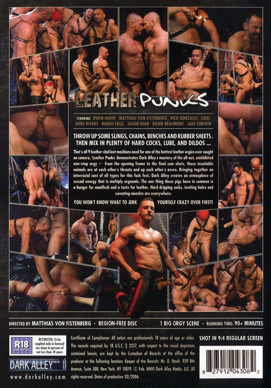 Leather Punks Orgy DVD - Back