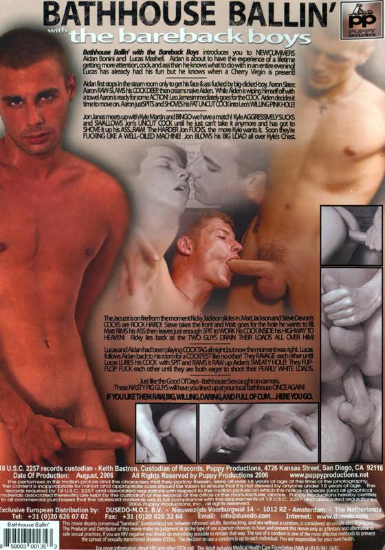 Bathhouse Ballin' with the Bareback Boys DVD - Back