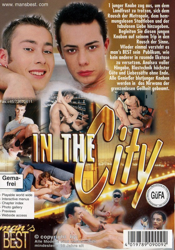 In The City DVD - Back