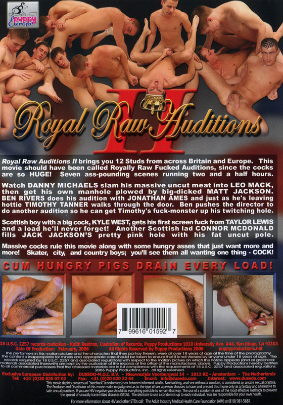 Royal Raw Auditions 2 DVD - Back