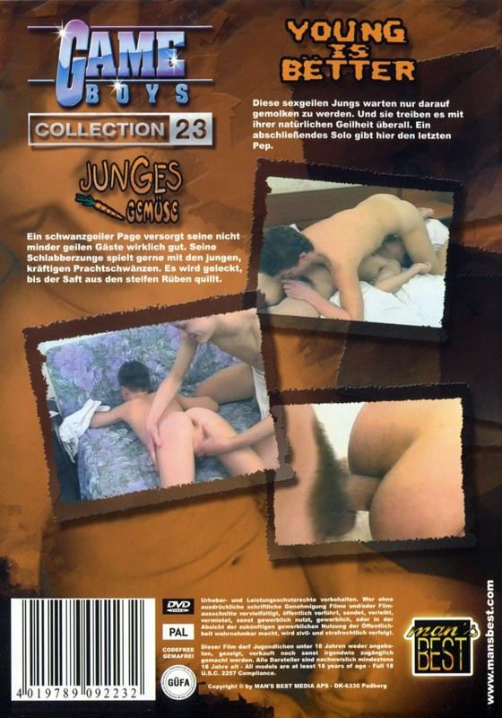 Game Boys Collection 23 - Junges Gemuese + Young Is Better DVD - Back