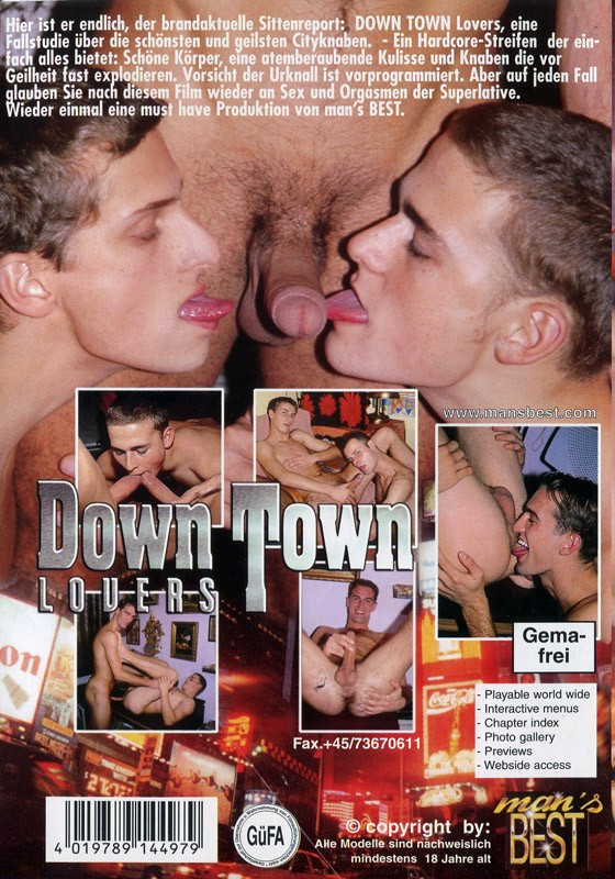 Down Town Lovers DVD - Back