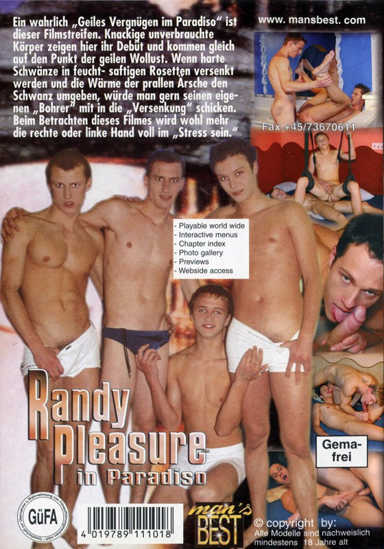Randy Pleasure In Paradiso DVD - Back