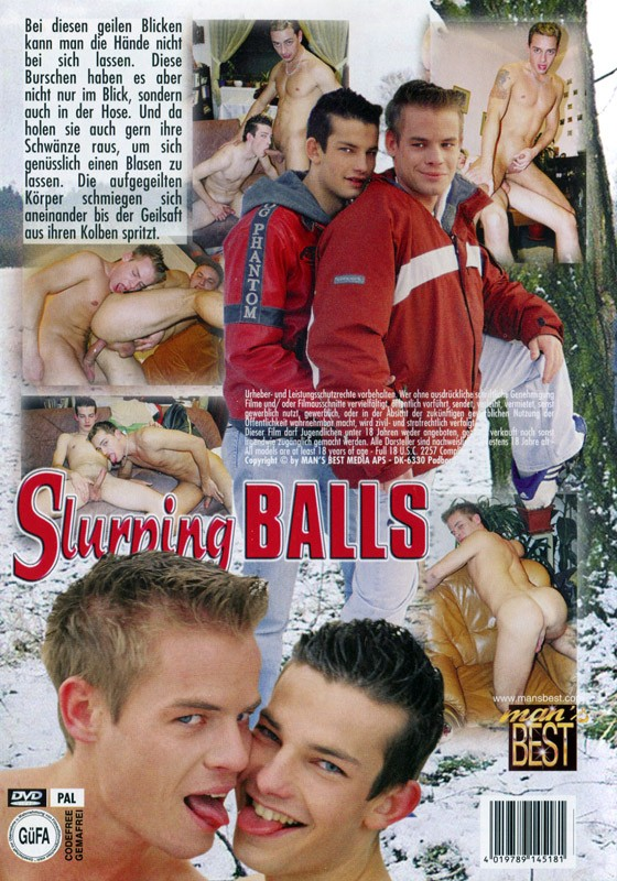 Slurping Balls DVD - Back