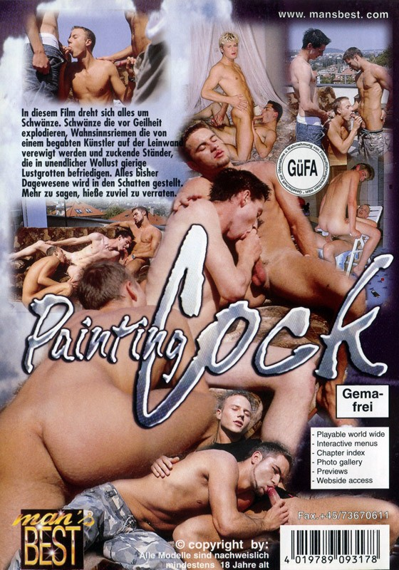 Painting Cock DVD - Back