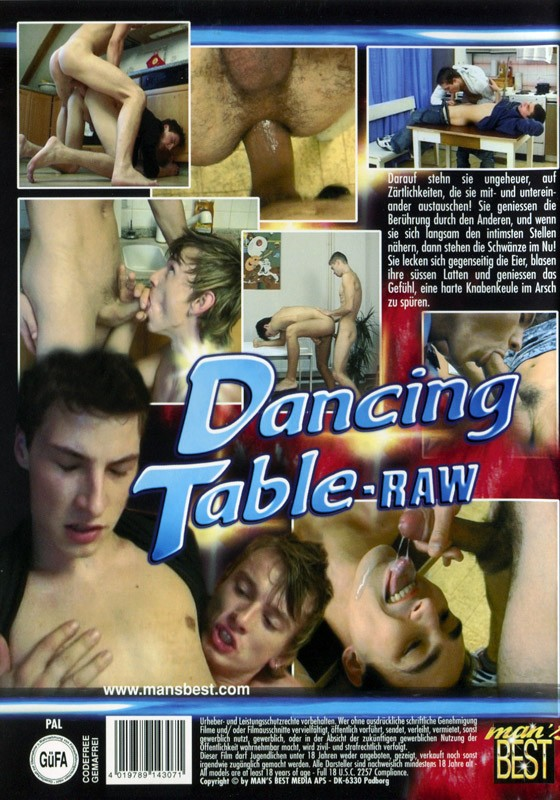 Dancing Table Raw DVD - Back