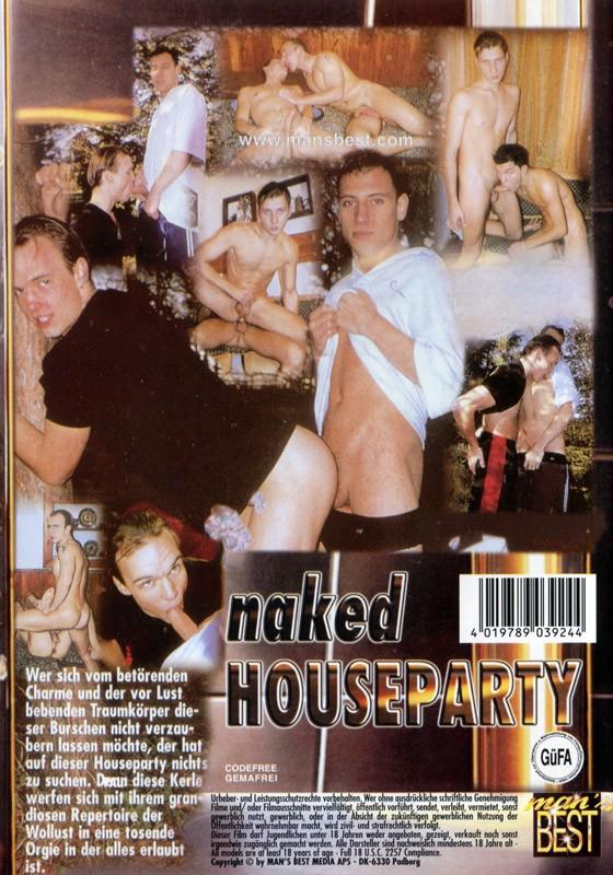 Naked Houseparty DVD - Back