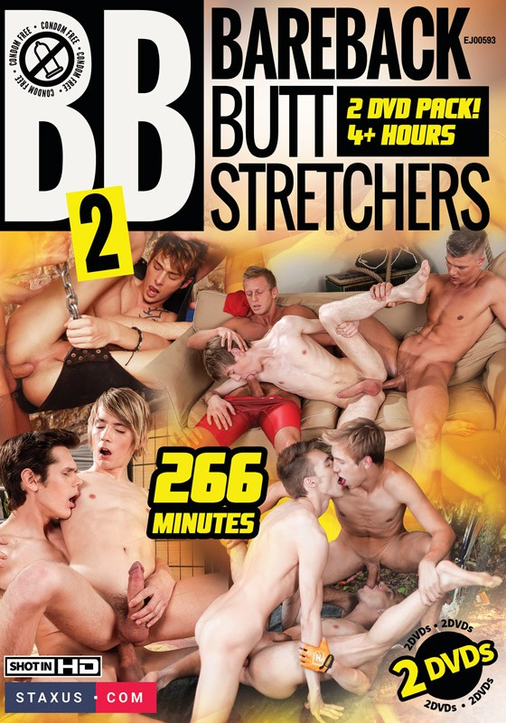 Bareback Butt Stretchers 2 DVD - Front