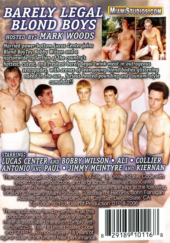 Barely Legal Blond Boys DVD - Back