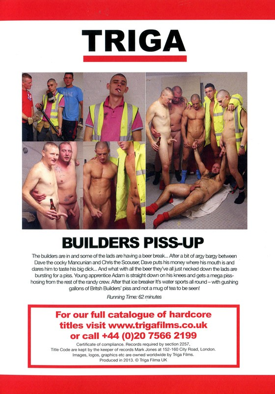 Builders Piss-Up DVD - Back